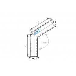 INTERCOOLER - 450x230x65 - ASYMETRYCZNY ALU