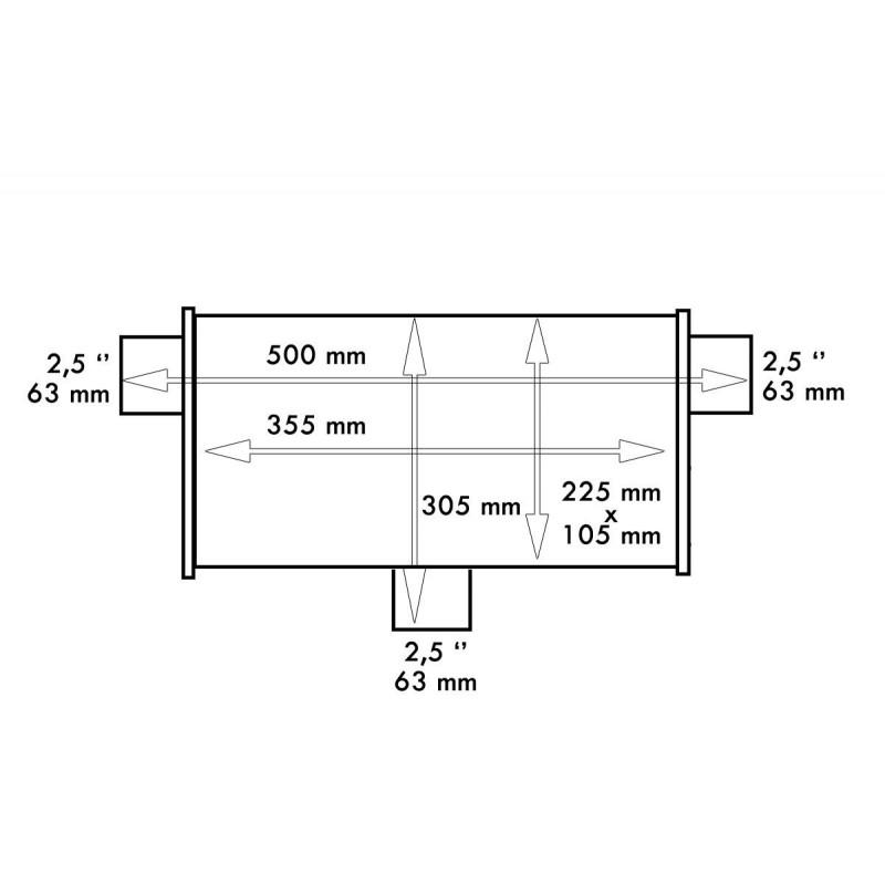 OIL CATCH TANK - 9,5mm - 0,7L SILVER