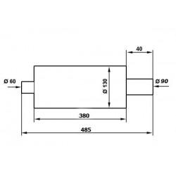 TŁUMIK SPORTOWY - ULTER - NM142 90RS - 55mm