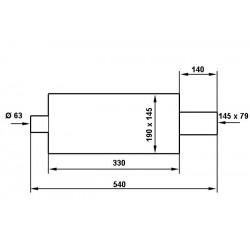 POMPA HAMULCA RECZNEGO HYDRAULICZNEGO 0,625'' 90mm